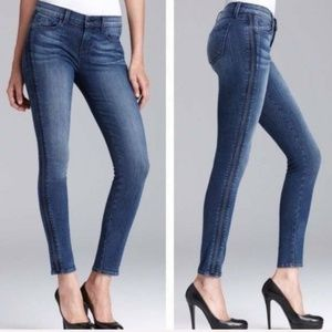 J BRAND Liberty Vail Tag Side Pleat Skinny Jeans